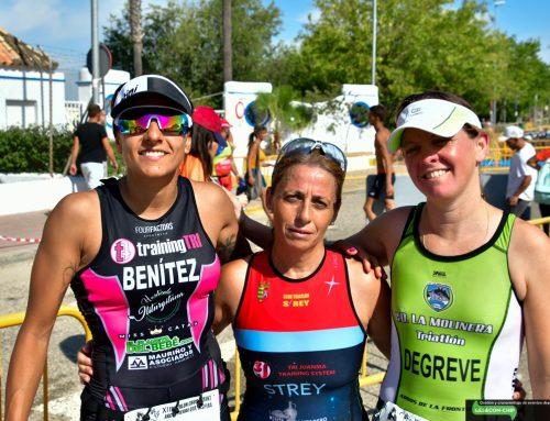 Rubén Cuéllar y Myriam Benítez ganan el XI Triatlón Cros Sprint de Arcos